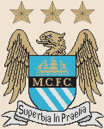 Manchester City FC Cross Stitch Design - stitchaphoto