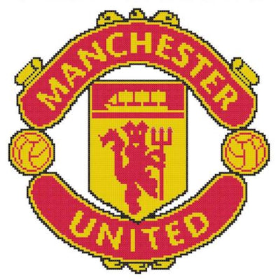 Manchester United FC Cross Stitch Design - stitchaphoto