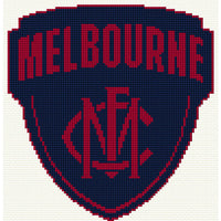 Melbourne AFL 2020 logo Cross Stitch Design