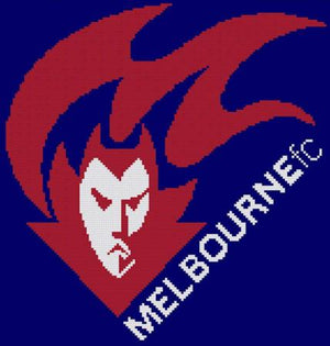 Melbourne Demons AFL Cross Stitch Design - stitchaphoto
