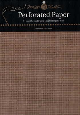 Mill Hill Perforated Paper - Brown
