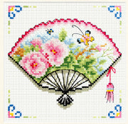 Rose Fan - a Needleart no count cross stitch kit