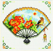 Nasturtium Fan - a Needleart no count cross stitch kit