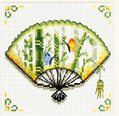Bamboo Fan - a Needleart no count cross stitch kit