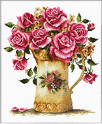 Antique Flower Vase - a Needleart no count cross stitch kit