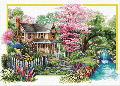 Spring Comes - a Needleart no count cross stitch kit