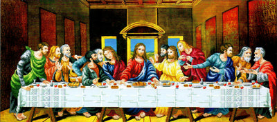 The Last Supper - a Needleart no count cross stitch kit with pre-printed background