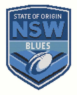 NSW State of Origin NRL Logo Cross Stitch Design - stitchaphoto