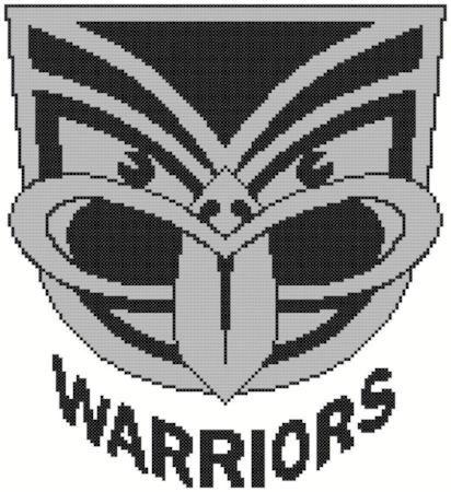 New Zealand Warriors NRL Logo Cross Stitch Design - stitchaphoto