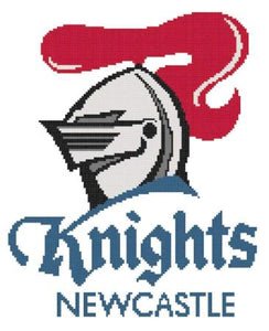 Newcastle Knights NRL Logo Cross Stitch Design - stitchaphoto