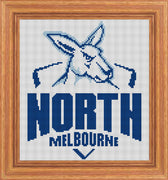 North Melbourne AFL Logo 2020 Cross Stitch Design
