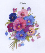 Pansies Downloadable cross stitch chart