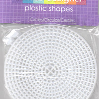 Plastic Canvas - 7 Count - 4.25&  Circle Shape - Pkt of 8