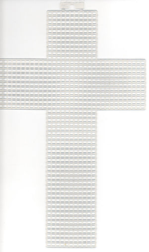Plastic Canvas - 7 Count - 5 x 8 inch  Cross Shape