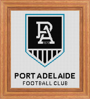 Port Adelaide 2020 AFL Logo Cross Stitch Design