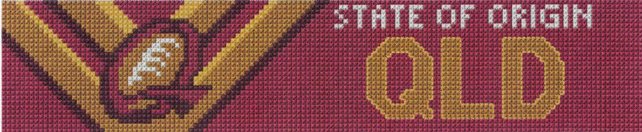 QLD State of Origin Cross Stitch Design for a Bookmark - stitchaphoto