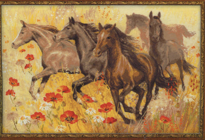 Wild Horses - A RIOLIS cross stitch Kit
