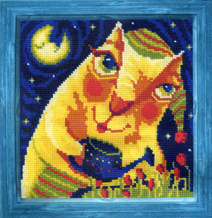 Midnight Tulips - A RIOLIS cross stitch Kit