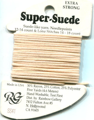 SS41 Rainbow Gallery Super Suede Ecru