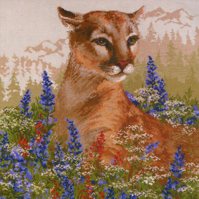 Cougar - A RIOLIS cross stitch Kit