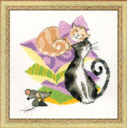 Cats and Mice - A RIOLIS cross stitch Kit