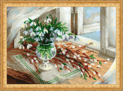 Willows and Snowdrops - a RIOLIS cross stitch Kit