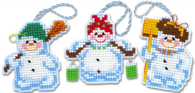 Christmas Tree Decorations - RIOLIS plastic canvas tree hanger Kits