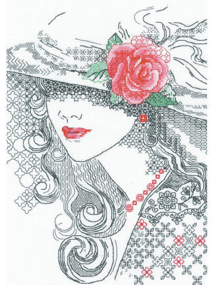 Mysterious Rose - A RIOLIS Blackwork Kit
