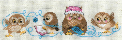 The Owl Family - A RIOLIS cross stitch Kit