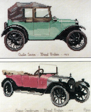 Cars - Austin Seven and Angus Sanderson - A Ross Originals cross stitch chart