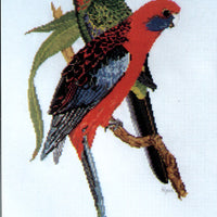 Crimson Rosellas - A Ross Originals cross stitch chart