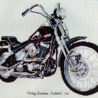 Harley Davidson Motorcycle - A Ross Originals cross stitch chart