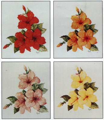 Hibiscus - A Ross Originals cross stitch chart