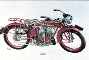 Indian Motorcycle - A Ross Originals cross stitch chart