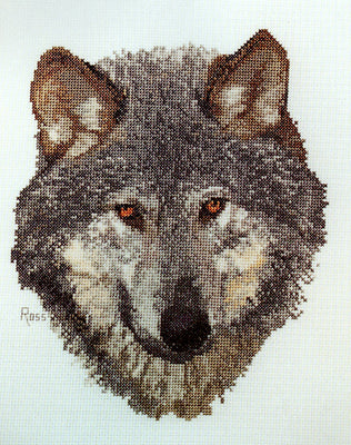 Wolf - A Ross Originals cross stitch chart