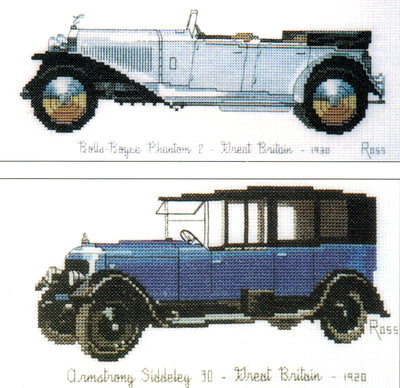 Cars - Rolls Royce and Armstrong Siddeley - A Ross Originals cross stitch chart
