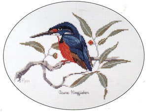 Azure Kingfisher - A Ross Originals cross stitch chart