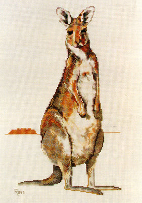 Eastern Grey Kangaroo - A Ross Originals cross stitch chart