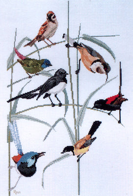 Garden Birds of Australia - A Ross Originals cross stitch chart