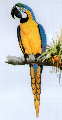 Macaw- A Ross Originals cross stitch chart