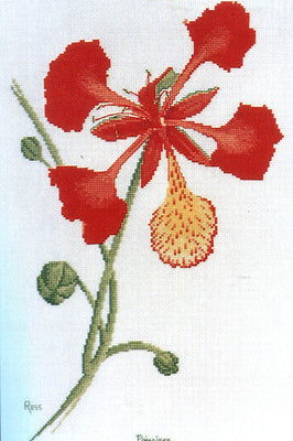 Poinciana - A Ross Originals cross stitch chart