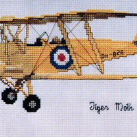 Tiger Moth - A Ross Originals cross stitch chart