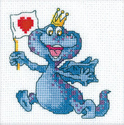 Blue Dragon Bringing Love - A RTO cross stitch Kit