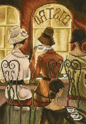Rendezvous au Bistro - A RTO cross stitch Kit