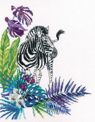 Zebra - A RTO cross stitch Kit