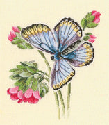 Butterflies on a Dainty Flower - An RTO cross stitch Kit