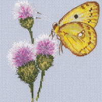 Butterfly on Flower 6 - An RTO cross stitch Kit