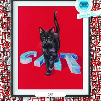 Cat - A RTO cross stitch Kit