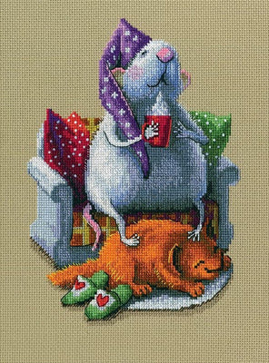 Who Runs the House - A RTO cross stitch Kit