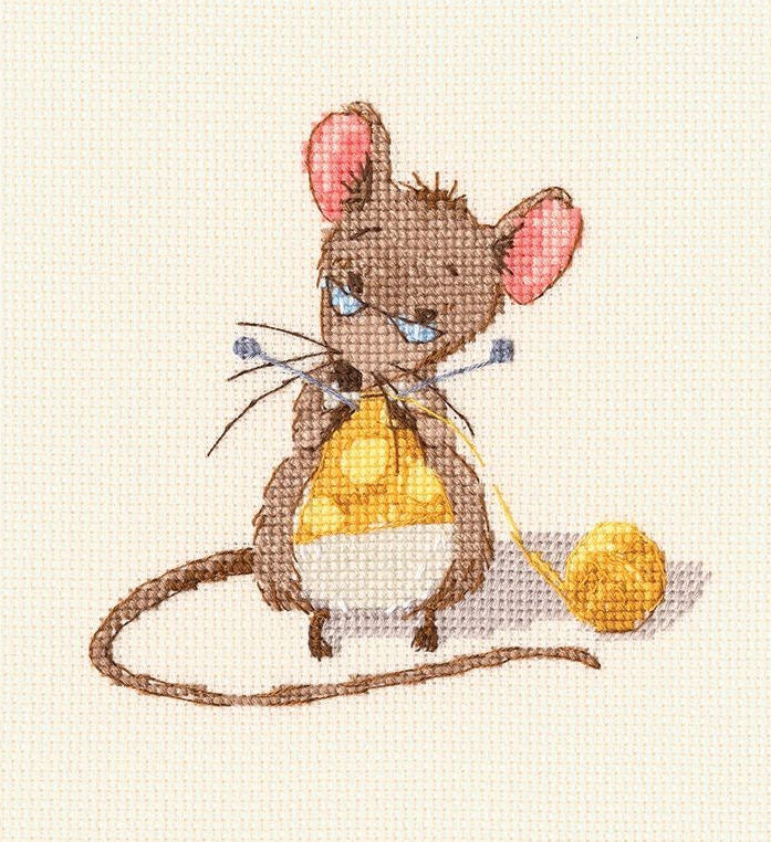 Cheese Knitting - A RTO cross stitch Kit